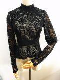 Women Fashion Garment Nylon Lace Slim Fit Clothing