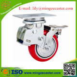 Double Brake Shock Absorption Caster with PU Wheel