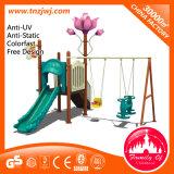 Kindergarten Kids Plastic Slide and Swing