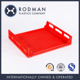 Modern Large Stackable Storage Food Grade PP Plastic Box No. 3 Red Bread Tray