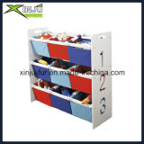 Kids Wooden Display Shelf with Toy′s Bin
