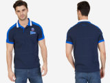 Bue Fit Color Block Slim Polo Shirt