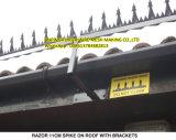 PVC Coated Razor Spike on Roof with Brackets