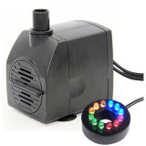 AC 12V Low Voltage 190gph Mag Drive Small Water Fountain Pump with LED Lights