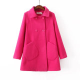 OEM Clothing 2015 Plus Size Winter Women Slim Pocket Coat