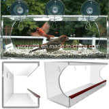 Super Quality Acrylic Wild Bird Feeder with Drain Holes &Strong Suction Cup
