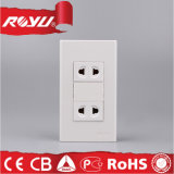 Saudi Arabia Double Gang 16A Wall Mount Socket Outlets