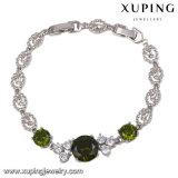 Fashion Delicate Rhodium-Plated CZ Diamond Imitation Jewelry Bracelets -74340