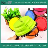 Collapsible Silicone Animal Feeding Bowls Silicone Rubber Folding Bowl