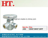 Chorme Plating Brass Forged 3-Way Angle Valve with Zinc Handle