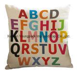 Home Decorative Custom Printed Cotton Seat Sofa Square Throw Cushion