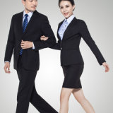 Wholesale Formal Fashion Men′s and Lady′s Office Uniform