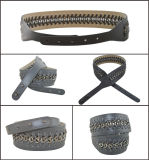 Full Grain Cowhide Leather Chain Belt for Lady