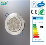 Hot Products 89mm Cutout 7W Aluminum LED Downlight