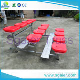 Outdoor Freestandinig Aluminum Bleachers / Aluminum Bench with Plastic Seats