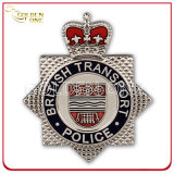 New Style Engraved Soft Enamel Nickel Plated Police Badge