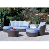 Aluminum PE Wicker Sofa Set (WS-06019)