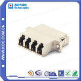 LC Quad Metal Fiber Optical Adapter with Flange