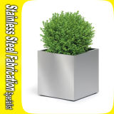 Square Planter Pot Stainless Steel Garden Flower Pot