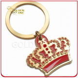 Personalized Gold Crown Shaped Soft Enamel Metal Key Chain