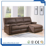 Classic Luxury Genuine Leather Sofa Furniture Living Room Sofa Set with Chaise