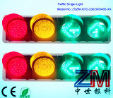 High Luminance Full Ball LED Flashing Traffic Light / Traffic Signal with Cobweb Lens