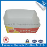 Red Color Printed Art Paper Card Food Packaging Tray