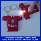 Pressed PVC LED Torch Keyring
