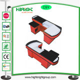Electric Collorful Checkout Counter with Motor Belt