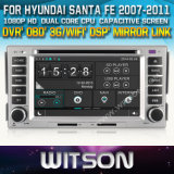 Witson Car DVD Player for Hyundai Santa Fe 2007-2011 (W2-D8268Y) CD Copy with Capacitive Screen Bluntooth 3G WiFi OBD DSP