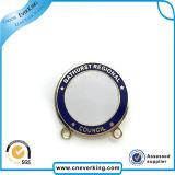 2.2cm Round Shape Photo Custom Logo Lapel Pin with Safety-Pin