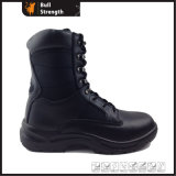 Military Black Safety Boot with Steel Toe Cap (SN1552)