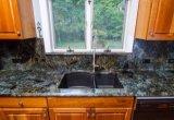 Jade Blue Labradorite Small Bathroom/Kitchen Double Sink Vanitytop/Countertops Unit/Cabinets