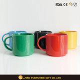 Colorful Ceramic Mug with Base Set 5 for Dinner Set
