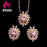 Wholsale Jewelry Ladies Colorful Cubic Zirconia Luxury Jewelry Set