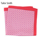 Luxury Silk Polyester Dots Plaid Flower Printed Pocket Square Hanky Handkerchief (SH-024)