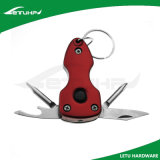 Stainless Steel Multi Function Promotion Keychain with LED Light
