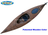 3.44mtrs Imatation of Wood-Drain Deck Single Touring Kayak