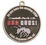 Customized Antique Gold Silver Copper Sport Metal Enamel Medal
