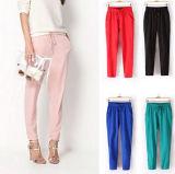 Custom Plain Women Chiffon Harem Trousers (50208)