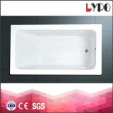 K-1214 Bathtub Square Small, Solid Acrylic Bathtub Foshan, Custom Made Bathtub Fiberglass Drop in Bathtub Supplier