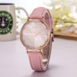 Woman Watch OEM Leather Strap Quarts Wholesale Fashion Watch (Wy-113C)