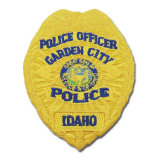 Customized Newly Yellow Color Police Embroidery Patch