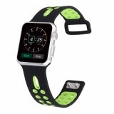 Dual Colors Sports Silicone Watch Band with Square Buckle Clasp for Apple Watch Band