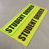 Reflective Magnets Student Driver Sign Sticker Decals