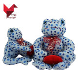 Promotional Gifts Soft Plush Frog with Ribbon and Heart