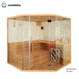 Sunrans Outdoor Steam Sauna Room 4 People with Finland Pine Wood