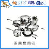 Premium 403 Stainless Steel Cookware Set 13PCS Kitchen Utensils