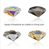 Axe Crystals Beads Rhinestones Long Drop Accessories Sew on for Dress Stones 2 Hole (TP-axe rhinestone)