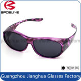 Novelty Brightlook Vision Samples Clip on Glasses Grey Frame Black Lens Bifocal Fashion Cycling Driving Sunglasses